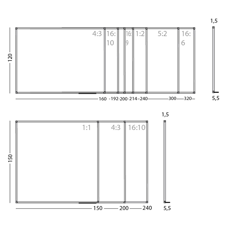 Smit Writable Projection Boards